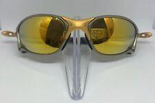Oakley X Metal XX Sunglasses 24K Gold Frame 24K Gold Iridium Lens 100% Complete!