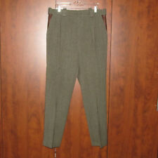 RARE WILLIS & GEIGER OUTFITTERS Heavy Wool Hunting Pants Leather Pockets 36 x 31
