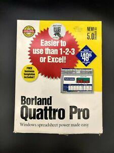 Borland Quattro Pro (Version 5.0) Windows Spreadsheet Software