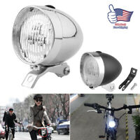 Classical Vintage Retro Bicycle Bike LED Light Headlight Front Retro Head Lamp