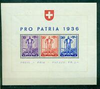 Schweiz, Pro Patria 1936, Block 2 postfrisch **