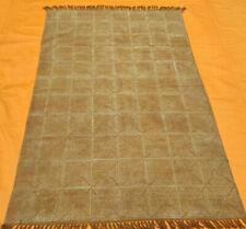 Rajasthani Block Print Traditional Cotton Area Kilim Rug Beige Kilim Dhurrie