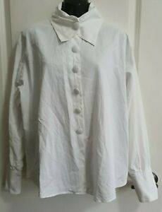 ANNE FONTAINE 100% COTTON Vintage Luxury Dress Shirt in White, Size 3