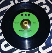 The Flairs - Where You Live Rare Soul 45 Rpm On Rap