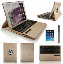 For iPad 2 3 4 360° Rotating Swivel Leather Case Cover with Bluetooth Keyboard
