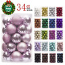 Unbreakable Christmas Tree Ornaments (34 Variety Pack) - 40mm Pink