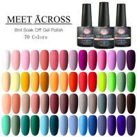 Meet Across Pure Matte Effect Soak Off UV Gel Nail Polish Varnish Manicure Tips
