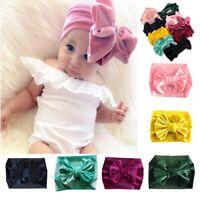 Soft Baby/ Girls Kids Toddler Bow Hairband Headband Turban Big Knot Head-Wrap
