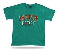 ANAHEIM HOCKEY t-shirt tee black white orange CA USA ice apparel winter design
