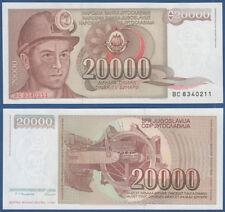 JUGOSLAWIEN / YUGOSLAVIA 20000 Dinara 1987 UNC P.95