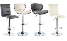 Set of 2 Faux Leather Bar Stools Chrom Kitchen Breakfast Swivle Chair Stool u043