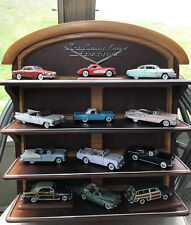 """Franklin Mint """"Classic Cars of the Fifties� 12 Cars and Display Shelf Preowned"""