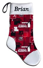 Personalized NCAA University of Alabama Crimson Roll Tide Stocking & Hat