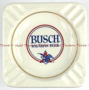 1960s BUSCH BAVARIAN BEER 5¼ inch porcelain ash Tray Tavern Trove