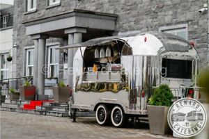 All New Airstream Mobile Food Cart Suitable Burger, Coffee, Gin, Prosecco Pizza