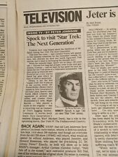Usa Today Life Section 19 Aug 1991 - Nimoy to be on St:Tng article