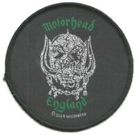 MOTORHEAD england 2004 circular 8.5cms WOVEN SEW ON PATCH - no longer made LEMMY