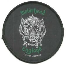 More details for motorhead england 2004 circular 8.5cms woven sew on patch - no longer made lemmy