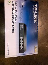 Tp-link Network Switch TL-SF1016DS 16 Ports RJ45 10/100Mbps Mount Rack