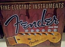 FENDER GUITARS USA,STRATOCASTER, ANTIQUE-FINISH VINTAGE WALL SIGN 40x30 cm