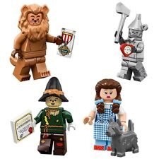 Lego Wizard Of Oz Minifigure Set Dorthy Scarecrow Cowardly Lion Tin Man Toto HTF