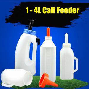 Milchflasche 1-4ltr. Kälberflasche mit Sauger Kälbersauger Nuckelflasche