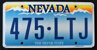 "NEVADA "" THE SILVER STATE - MOUNTAIN - 475 LTJ "" NV Graphic License Plate"