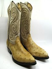 Caborca Men's Western Boots Ostrich Size 7.5 Ee