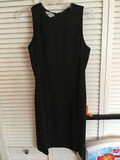 Jacqueline Ferrar Sz 10 Black Sleeveless Knee Length Cocktail Little Black Dress
