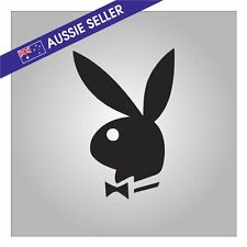 Playboy Bunny Sticker BLACK Decal for Car Window Family Navara Hilux Corolla PJ