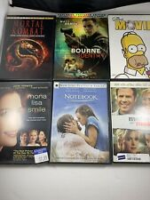 DVD Lot Of 6 Mortal Kombat Simpsons Notebook Mona Lisa