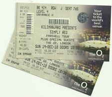 Simply Red Farewell Tour  tickets London O2 Arena 2010