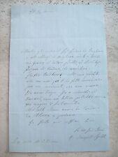 1861 AVIGLIANA IMPORTANTE LETTERA SU ELEZIONI E TRAFFICI DEPUTATO FELICE GENERO