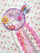Personalised Handmade Birthday Easter Girls Boys Any Occasion Rosettes Ribbon