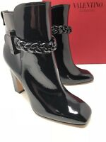 $1300 New Valentino Garavani Womens Black Boots Ladies Shoes Size 10 US 40 EU