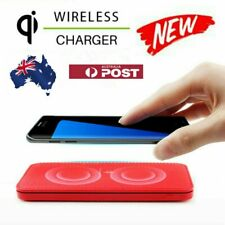 Qi Portable Wireless Universal Charger Dual-USB Battery Power Bank 2 IN 1