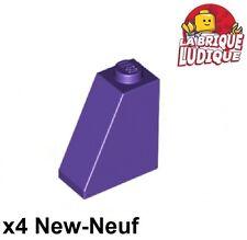 Lego - 4x slope brique pente inclinée 65 2x1x2 violet/dark purple 60481 NEUF