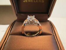 Mount W/ 1 Carat Cubic Zirconia Engagement Ring Flower Top Entwined Shank Semi