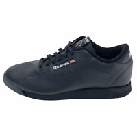Reebok Womens Princess Classic 30892 Black Running Shoes Lace Up Size 8.5 D Wide