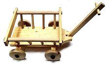 Holzleiterwagen für Bären oder Puppen Leiterwagen natur hell ca. 10 x 14 cm