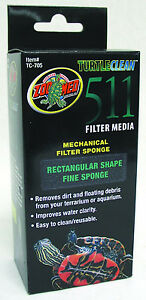 Zoo Med 511 Mechanical Filter Fine Replacement Sponge Clean Filter For Turtles