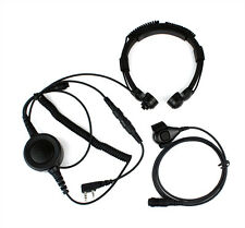 Military Police Equipment Throat Mic Air Tube Headset for Kenwood TH-F7 TH 3207