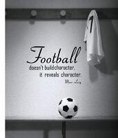 FOOTBALL.. MOTIVATIONAL SPORT QUOTE WALL ART DECAL STICKERS VINYL ROOM BEDROOM