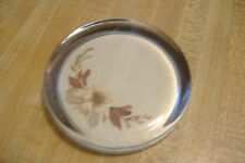 ~VILLAGE GREEN~FLORAL PAPERWEIGHT~MADE IN ENGLAND~