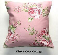 """16"""" nuevo Shabby Chic Pretty Pink cubierta Cojín de tela floral"""