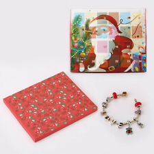 Christmas Advent Calendar DIY Charm Jewelry Bracelet Countdown to 24 Days Gifts