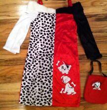 DISNEY 101 Dalmatians CRUELLA Fancy Dress COSTUME Kids 7/8-NO PURSE