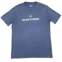 Under Armour Believe In Heroes Wounded Warrior Project Blue T-Shirt Adult Medium