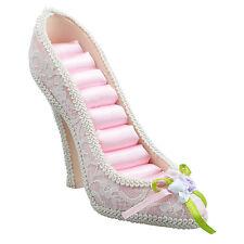 """Big Heel Shoe Sequins Ring Display Jewelry Holder """"Pink DTUS"""