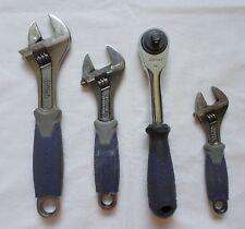 "KOBALT Chrome Vanadium Adjustable Wrench Set 6"" 8"" 10"" and Socket 3/8* drive"